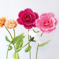 الزخرفية الزهور تكاليل العملاقة زهرة اصطناعية وهمية رغوة كبيرة روز مع سيقان ل خلفية الزفاف ديكور نافذة عرض المرحلة فالين