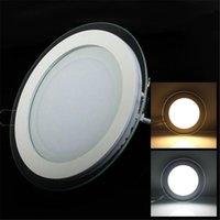 EST Gömme LED Panel Işık Cam Kenar 3D Tavan Downlight Sürücü ile AC85-265 V Sıcak / Doğal / Soğuk Beyaz 20 adet / grup Downlights