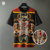 T-shirts Hommes Thunang usure - 2021 Fleur du corps d'été 3D haute définition numérique impression numérique estamping court SVE T-shirt