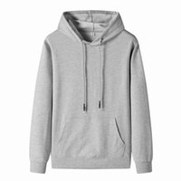 Men's Hoodies & Sweatshirts For Men Streetwear Solid Color Long Sleeve Drawstring Pullover Mens Spring Fall Hooded With Kangaroo Pocket