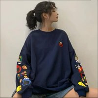 Women's Hoodies & Sweatshirts Autumn Women Kpop Clothes Long-Sleeve Pullover Tracksuit Anime Cute Tops For Girls Female Jacket Sudadera