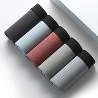 Underpants Boxer Cotton Men's, Comfortable Underwear, Stripe, Needle, Fashion, Breathable, Large, 2021