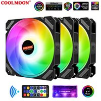 Moon silenzioso 120mm RGB Fan Scheda madre 5V ARGB AURA SYNC SYNC regolabile Colorful PC Cooler Cooler Cooling 12cm Computer Case Fan Raffreddings