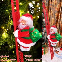 Electric Climbing Rope Ladder Santa Claus Doll Toy Hanging Ornament Tree Indoor Outdoor Christmas Home Decor for Child Gift G0930
