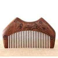 Sandalwood Pente Personalizado Seu logotipo Beard Pente Personalizado Combs Laser gravado pente de cabelo de madeira DWF9678