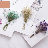 Greeting Cards 10pc Gypsophila Dry Flowers Handwritten Blessing Card Wedding Invitations Dried Flower 2022 Year Thank You Envelope