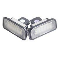 1 Paar 12V LED-Kennzeichen Glühbirne Kein Fehler für Mercedes Benz W203 4D W211 W219 6000K Weiße Anzahl Platte Lampe Auto
