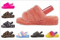 Superior Qualidade Xmas Mulheres Mulheres Botas de Neve Slipper Chinelos Furry Chinelos Develustível Designers Flip Flop Moda Luxo Slides Quarto C6TF #