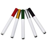 Metal Cigarette Shaped Smoking Pipes 80mm Length Aluminum Portable Tobacco Hand Pipe Water Bongs FHL414-WY1594