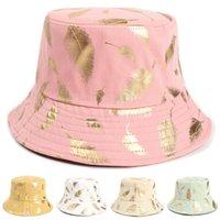Sombrero de cubo de algodón plegable de verano Playa de viaje de algodón gorras para adultos para el borde ancho lindo Protección UV Ronda Top Top Pescador Pescador Cap