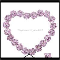 Outra entrega de queda 2021 Tumbeelluwa 1Lot / 50 pcs 10mm Sliver Chapeado de cristal de cristal frouxo esfera esferas para jóias fazendo bracelete DIY Neckla
