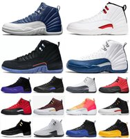 En gros Jumpman 12s Taxi Playoff Hommes Basketball Chaussures University Gold Indigo Noir Concord Blue Spot 12 Sneakers Sport Pierre Taille US 7-13
