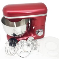 Stainless Steel Bowl 6-speed Kitchen Stand Mixer Cream Egg Whisk Blender Cake Dough Bread Maker Machine