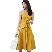 Summer Dresses Black Yellow Spaghetti Strapless Backless Womens Dress Office Lady Vintage Bodycon Sexy Party Mii Aline Sundress