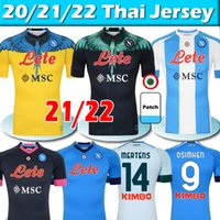 2021 2022 Napoli Futebol Jerseys 4th Maradona Maglietta da Calciatore Osimhen Insigne 2021 SSC Nápoles Kits Maglia Mertens Men Kits Kits Football Shirt