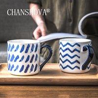 Becher Chanshova 350ml Keramik Moderne Stil Nette Kaffee und Tassen Teetasse Persönlichkeit Chinesisches Porzellan H587