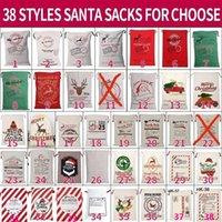زينة عيد الميلاد قماش عيد الميلاد سانس حقيبة كبيرة الرباط الحلوى كلوز أكياس عيد الميلاد هدية سانتا أكياس للمهرجان الديكور