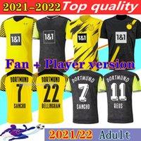 Borussia Dortmund 20 21 HAALAND REUS BELLINGHAM Bvb 110. camisa de futebol PERIGO SANCHO BRANDT REYNA 2020 2021 camisa de futebol HOMEM + kit infantil