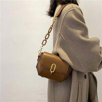 Women's Design New Hundred 2021 Niche Retro Bag Tidal Ins Red Oblique Net One-shoulder Umfix