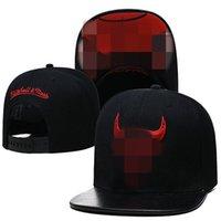Marque Basketball Snapback Cuir Noir Couleur Capuchon Football Baseball Équipe Chapeaux Mélanger Commandez toutes les Caps Top Qualité Chapeau