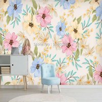 Wallpapers Custom Self-Adhesive Wallpaper Modern Floral Background Wall Paper Living Room Bedroom Romantic Home Decor 3D Stickers