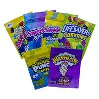 Paketleme Weedtarts Çanta Halat Isırıklar Gummy Mylar Çanta Yemekleri Sweetarts Gummies Ekşi Paketleme Kılıfı Errlli Köpekbalıkları 500mg