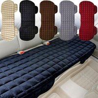 Car Seat Covers Checkered Rear Cushion, Winter Protection And Front Cloth Universal Cushion Flocking Cover Warm A4B3