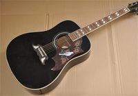 2021 Recién llegado Classic Classic 41 pulgadas Paloma negra Guitarra acústica Diapotado de palisandro Tienda de abeto Cuerpo de alta calidad Tienda de encargo