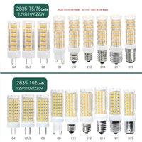 G4 G9 G5.3 GY6.35 G8 E11 E12 E14 E17 B15 Durable Dimmable LED Bulb Ceramic Corn Lights No Flicker 2835SMD Lamp Lighting Bulbs AC 110 220V