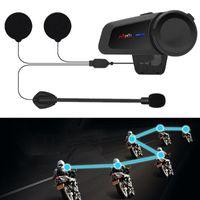 Grupo Rider Falando Motocicleta Capacete Headset Long Standby 1000m Distância FM Rádio Estéreo Compate com qualquer interfone de fone de ouvido Bluetooth