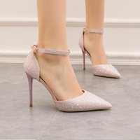 With Box red bottoms Dress shoes sole 10cm high heels for women party wedding triple black nude spikes Pointed Flat bottom Toes Pumps