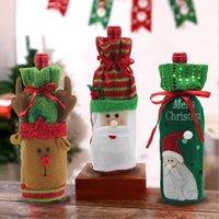 Toiletry Kits Christmas Decoration Wine Bottle Set Elk Snowman Bag Gift Bouquet