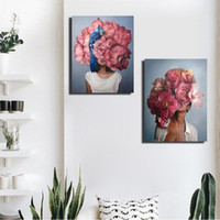 Modern Paint Flowers Flowers Donne Dipinti ad olio DIY Numero su tela Home Decor Figure Immagini Regali 40x60cm