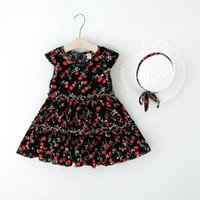 Baby Girl's Dress Toddler Kids Girls Sleeveless Floral Princess Hat Outfitsvestido Bebes Summer For Girl Dresses