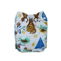 (20 peça muito no total) recém-nascido bebê tecido fralda bolso 10 peças + 10 inserções de microfibra babyland 210426