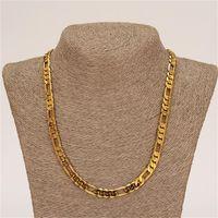 Fashion 18k Giallo Giallo oro riempito da uomo o donna braccialetto alla moda 21cm 60cm collana set figaro catena orologio link set 25 T2