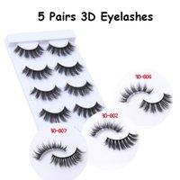 5 Pairs set 3D Mink Eyelashes Natural Thick Prom Make Up False Eyelash Extension Makeup Tools Fluffy Lashes