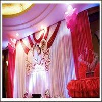 Décoration de fête Fond de mariage Backdrops 6m * 3M Rideau à rideau Stage Voile