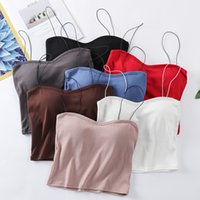 2020 new style of vibrant thread cotton pure vest, fashionable tiktok with bottom strap.