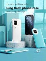 휴대 전화 케이스 라이트 필 라이트 셀프 뷰티 링 플래시 휴대 전화 케이스 안정된 쉘 완벽한 아이폰 12 11 프로 최대 XS XR