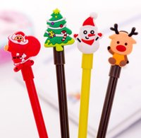 Fashion Cartoon Creative BLACK 0.38mm Gel Pen Cartoon Animal Santa Claus Christmas Gift Silicone Stationery Student School Office Supply Non-erasable Gel Pens
