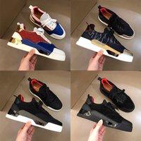 2021 Designer Luxury Erkek Kırmızı Dipleri Paten Ayakkabı Çivili Spike Alt Flats Günlük Rahat Kaykay Sneakers Luxe Tenis Ayakkabı Eğitmenler Ayakkabı Boyutu 38-45