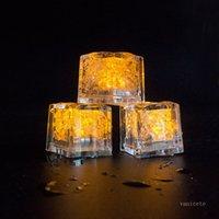 MULTI COLORES MINI Decoración romántica LED LED LED Cubo de hielo de hielo Flash Luz Flash Fiesta de Navidad Decoración T2I51770