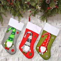 Bas de Noël avec peluche Swedish Gnome Xmas Annonce de la fête Cheminée Fenêtre Fenêtre Suspension Ornements HWWE9601