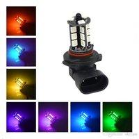 2pcs 9005 9006 H11 H7 RGB LED Daytime Running Auto Car Headlight 5050 27SMD Strobe Fog Light Head Lamp Bulb With Remote Control