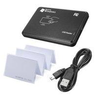 Lettore RFID KINJOIN per controllo Access 125KHz nero Sensore di prossimità USB nero Smart RFID Lettore di schede ID + scheda EM4100 opzionale