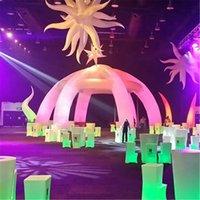 Индивидуальные Оксфорд Структура строительства надувной палатки надувной пауч-палатка воздушные балки вечеринки купола купола со светодиодными фонарями для DJ Stage или Centre Event