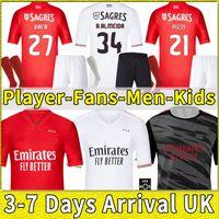2021 2022 Benfica Soccer Jersey Home 21 22 Pizzi Rafa Seferovic Waldschmidt Darwin Camisola de Futebol Shirt de football Men Kids Kit Kit Uniformes Version Player Version Chaussures Set