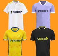 21 22 Leeds Futebol Jerseys Unidos 2021 2022 Home Harrison Raphinha Costa Bamford Klich Rodrigo M Homens Kits Treinamento Camisa de Futebol Ferros Fãs