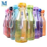 Botellas de agua Meltset Candy Color Colorst Clear Plastic 550ml Escuela Deportes al aire libre Portátil Portátil Niños BPA Gratis